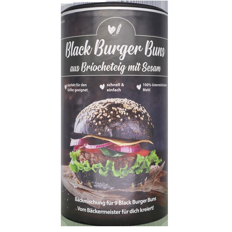 Black Burger Buns aus Briocheteig mit Sesam Bake Affair